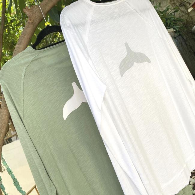חולצת סנפיר ארוכה לגבר-6111