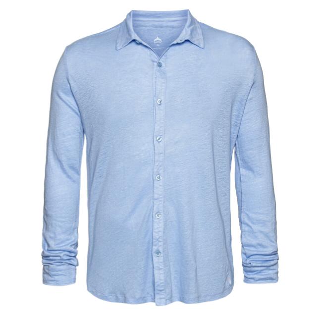 חולצת כפתורים יוניסקס פשתן-6179