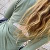 חולצת וי ארוכה עם סנפיר בגב-6100