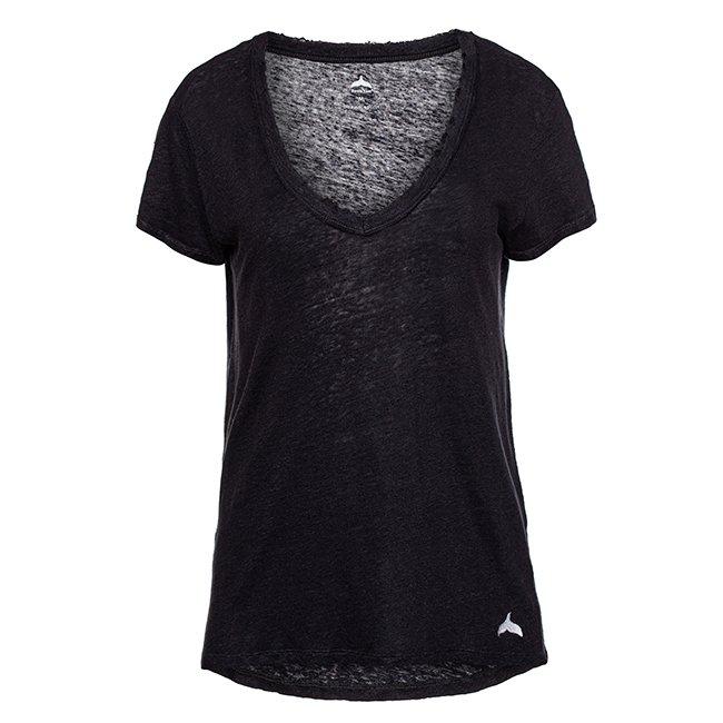חולצת וי פשתן קצרה-6352