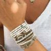 צמיד יד SILVER WHITE-7494
