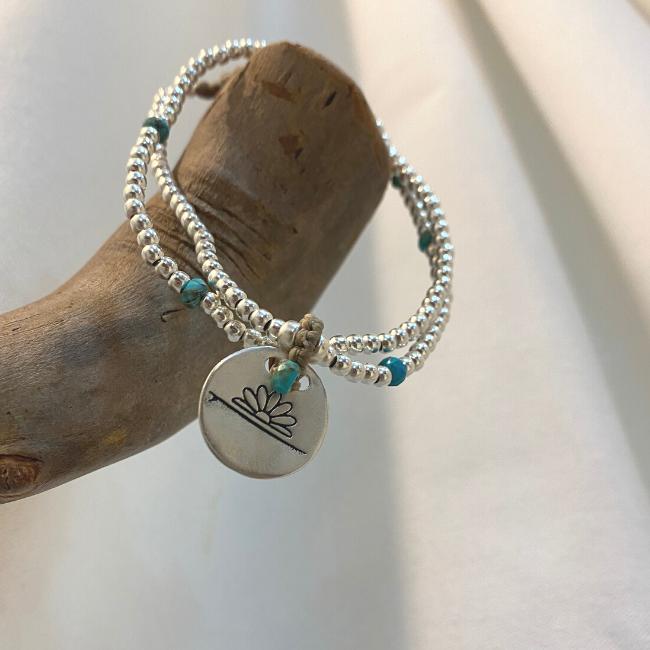 צמיד יד עם אבני חן ותליון SENSEA FLOWER-7785