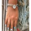 צמיד יד עם אבני חן ותליון SENSEA FLOWER-7788