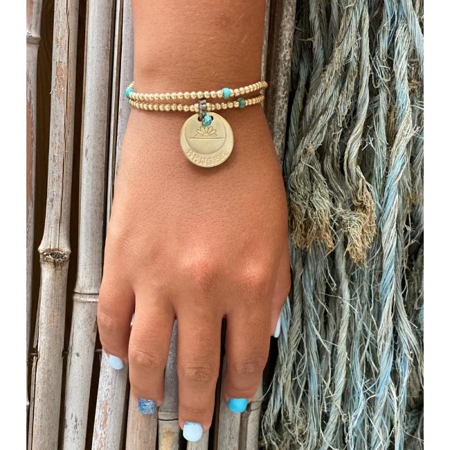 צמיד יד DOUBLE SENSEA בציפוי זהב עם אבני חן-0