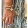 צמיד יד עם אבני חן ותליון SENSEA FLOWER-7786