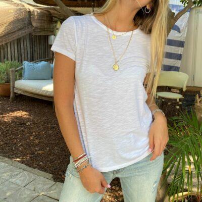חולצת סנפיר קצרה לבנה