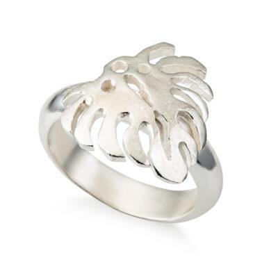 טבעת עלה גדול