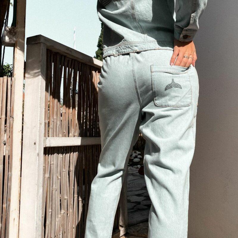 מכנסי ג'ינס סנפיר ניטים