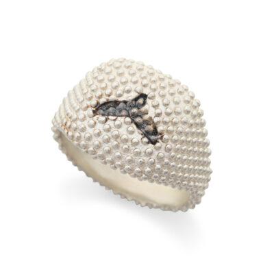 טבעת מנוקדת עם סנפיר