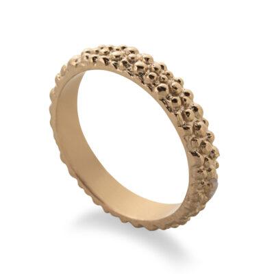 טבעת בייסיק מנוקדת גולד