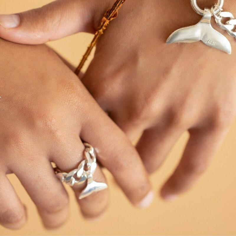 טבעת גורמט עם סנפיר זעיר
