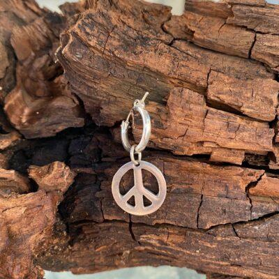 עגילי חישוק PEACE